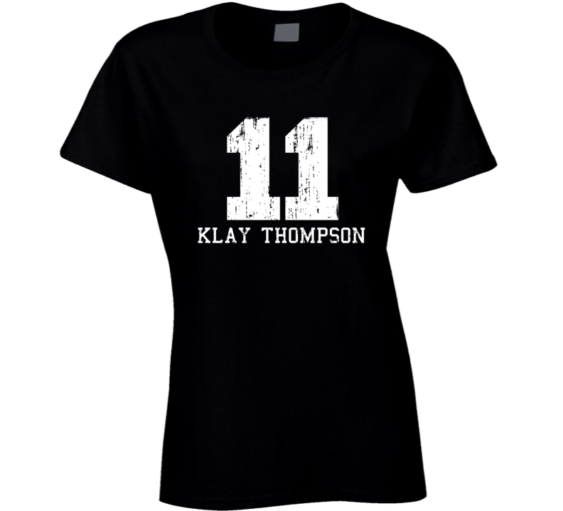 Klay Thompson #11 Golden State Basketball Worn Look Ladies T Shirt