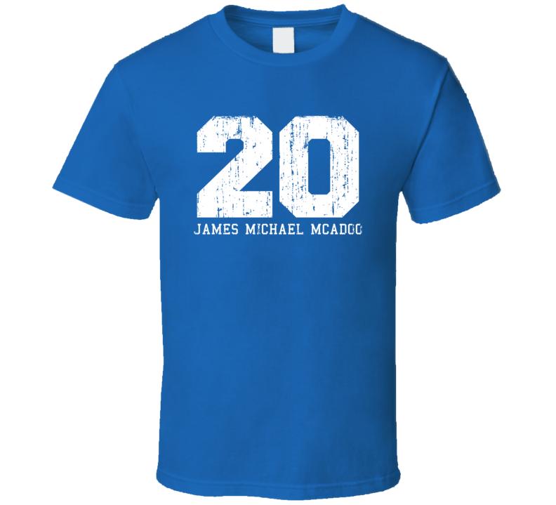 James Michael McAdoo #20 Golden State Basketball Worn Look T Shirt