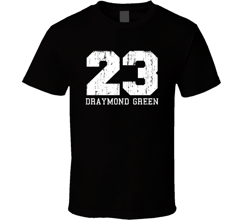 Draymond Green #23 Golden State Basketball Worn Look Sports T Shirt