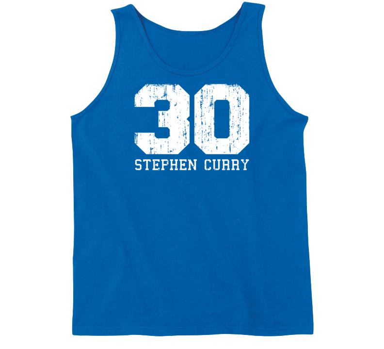 Stephen Curry #30 Golden State Basketball Fan Worn Look Sports Tanktop