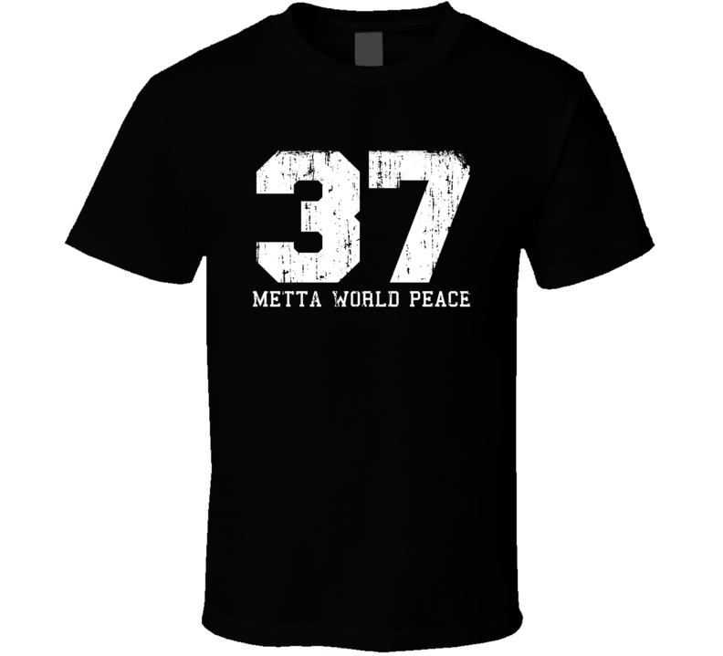 Metta World Peace No.37  Basketball Fan Worn Look Sports T Shirt