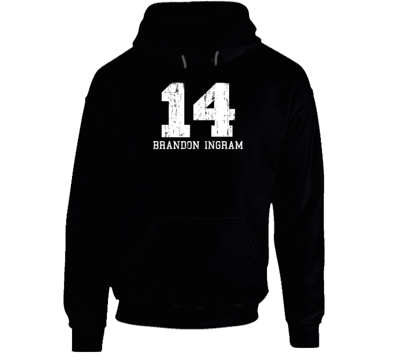 Brandon Ingram #14 Los Angelos Basketball Fan Worn Look Sports Hoodie