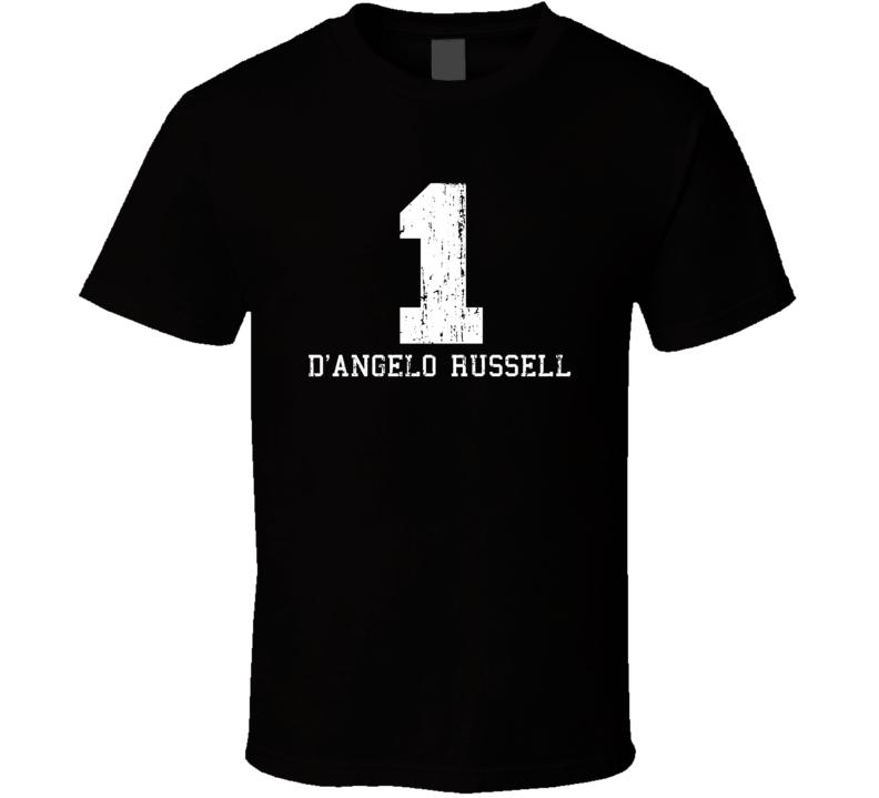 D'Angelo Russell #1 Los Angelos Basketball Fan Worn Look Sport T Shirt