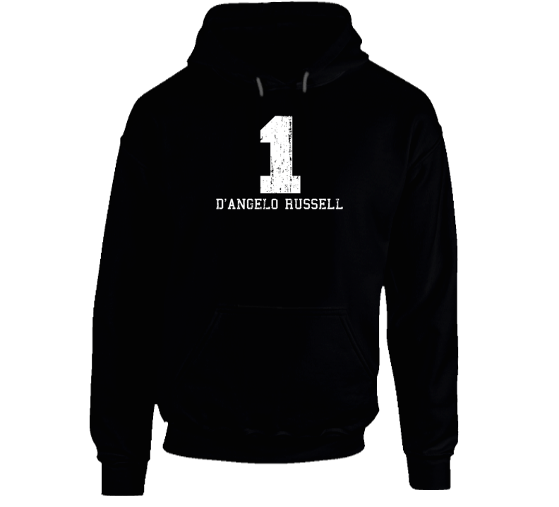 D'Angelo Russell #1 Los Angelos Basketball Fan Worn Look Sports Hoodie