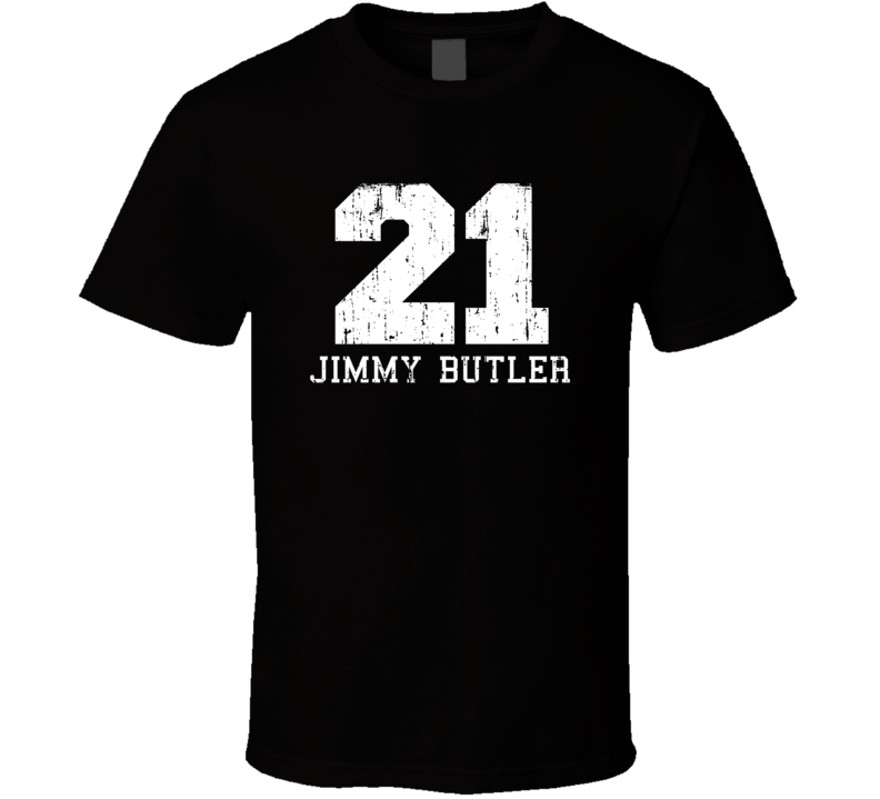 Jimmy Butler No.21 Chicago Basketball Fan Worn Look Sports T Shirt