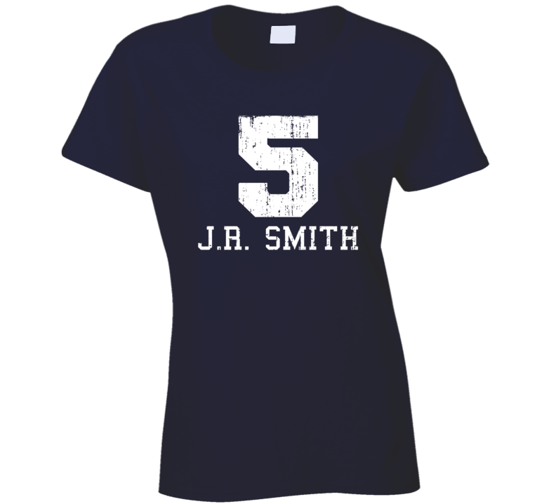 J.R. Smith #5 Cleveland Basketball Fan Worn Look Sports Ladies T Shirt