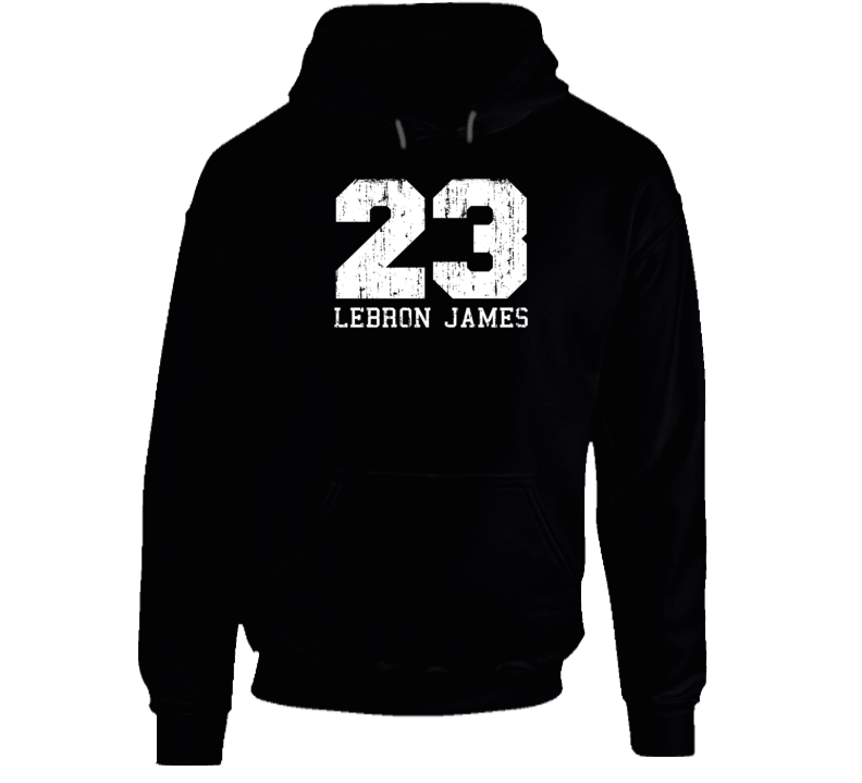 LeBron James No.23 Cleveland Basketball Fan Worn Look Sports Hoodie