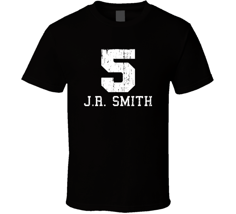 J.R. Smith No.5 Cleveland Basketball Fan Worn Look Sports T Shirt