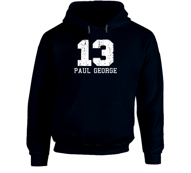 Paul George No.13 Indiana Basketball Fan Worn Look Sports Hoodie