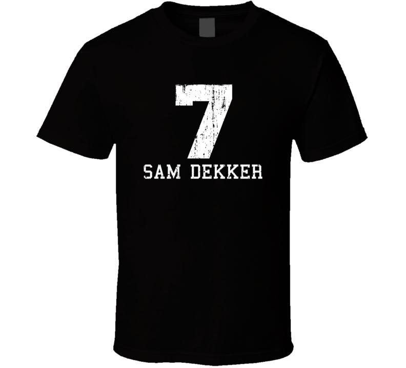 Sam Dekker No.7 Houston Basketball Fan Worn Look Sports T Shirt