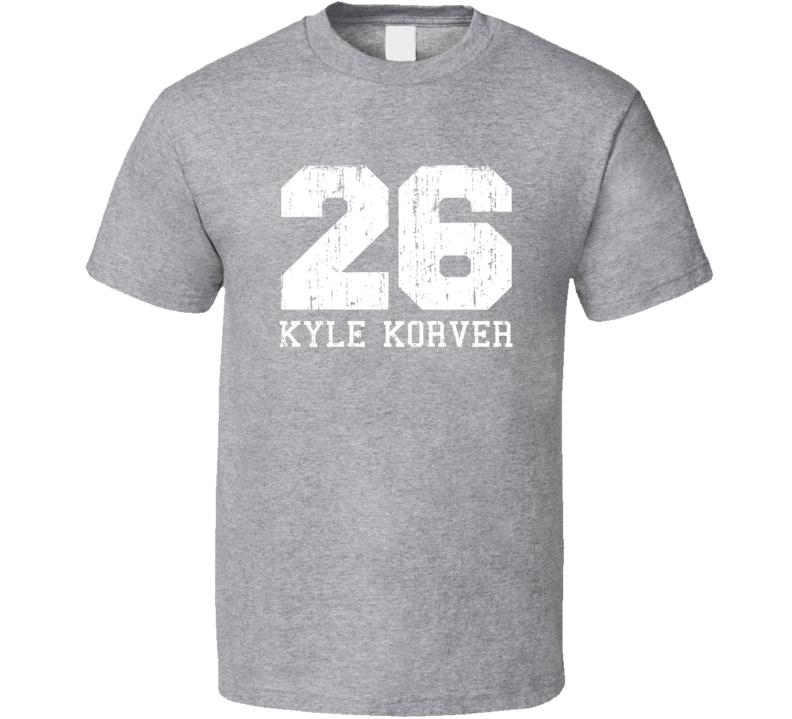 Kyle Korver No.26 Atlanta Basketball Fan Worn Look Sports T Shirt