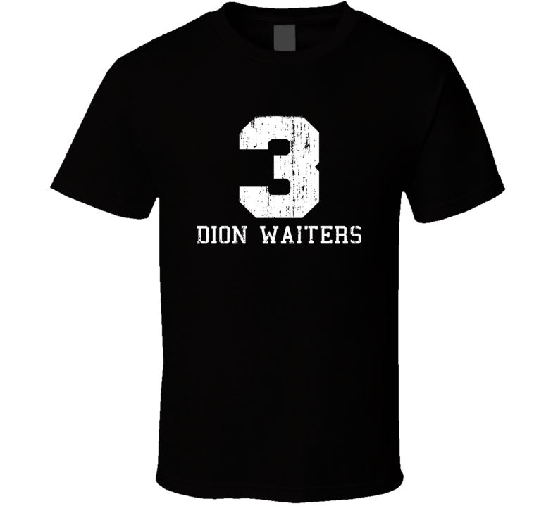Dion Waiters No.3 Miami Basketball Fan Worn Look Sports T Shirt