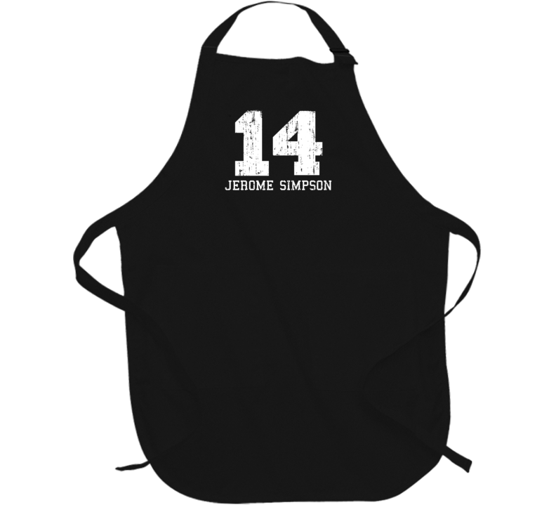 Jerome Simpson No.14 San Francisco Football Fan Worn Look Sports Apron