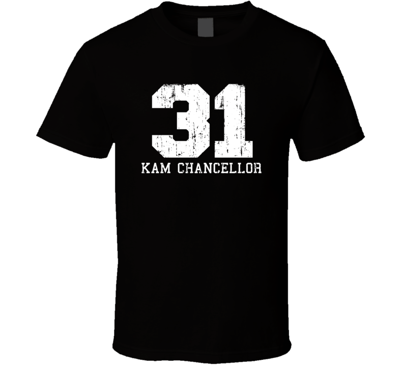 Kam Chancellor No.31 Seattle Football Fan Worn Look Sports T Shirt