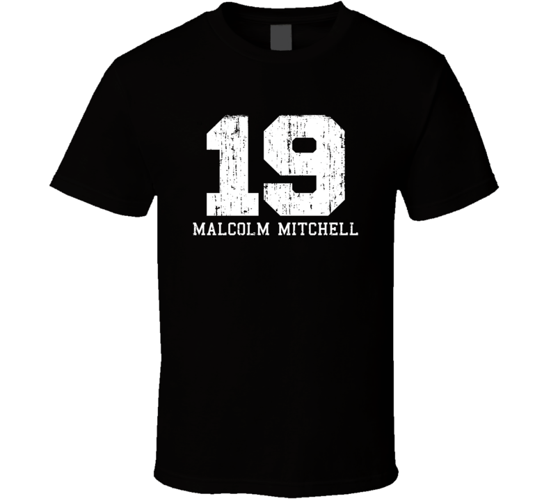 Malcolm Mitchell No.19 Patriots Football Fan Worn Look Sports T Shirt