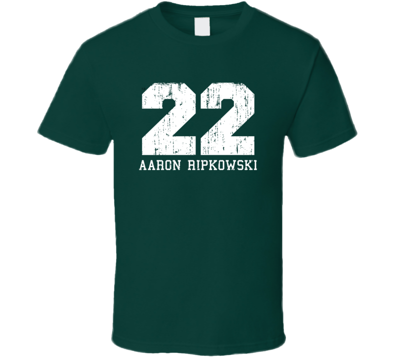 Aaron Ripkowski No.22 Green Bay Football Fan Worn Look Sports T Shirt