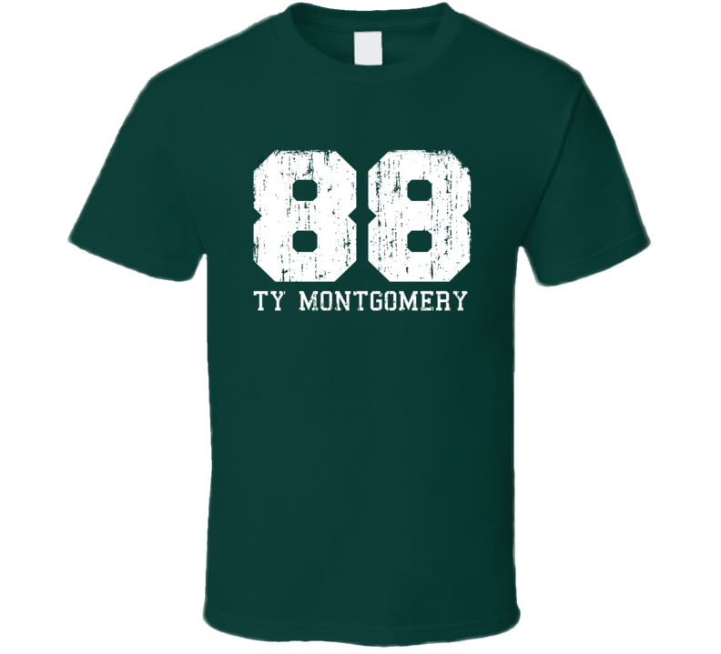 Ty Montgomery No.88 Green Bay Football Fan Worn Look Sports T Shirt