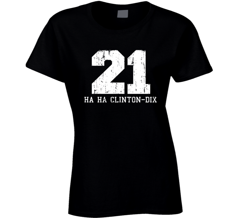 Ha Ha Clinton-Dix #21 Green Bay Football Worn Look Ladies T Shirt