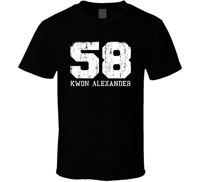 Kwon Alexander No.58 Tampa Bay Football Fan Worn Look Sports T Shirt
