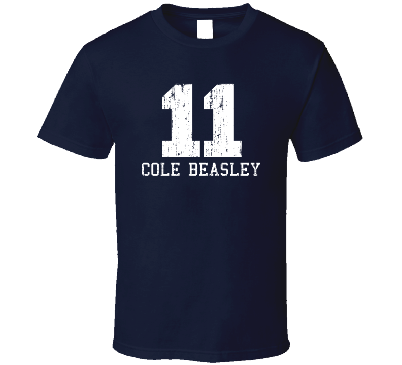 Cole Beasley No.11 Dallas Football Fan Worn Look Sports T Shirt