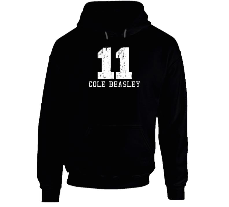 Cole Beasley No.11 Dallas Football Fan Worn Look Sports Hoodie