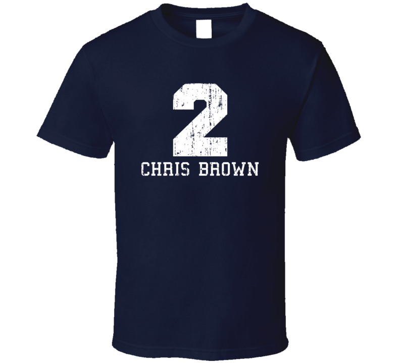 Chris Brown No.2 Dallas Football Fan Worn Look Sports T Shirt