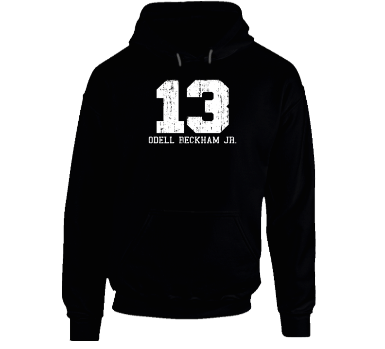 Odell Beckham Jr. #13 New York City Football Worn Look Sports Hoodie