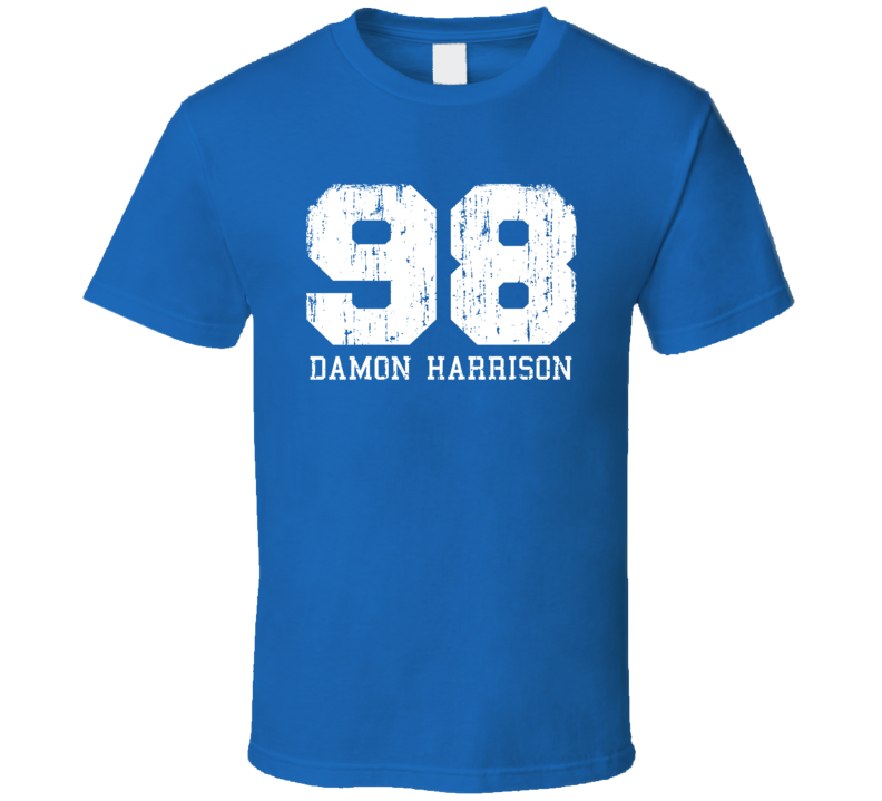 Damon Harrison #98 New York City Football Fan Worn Look Sports T Shirt