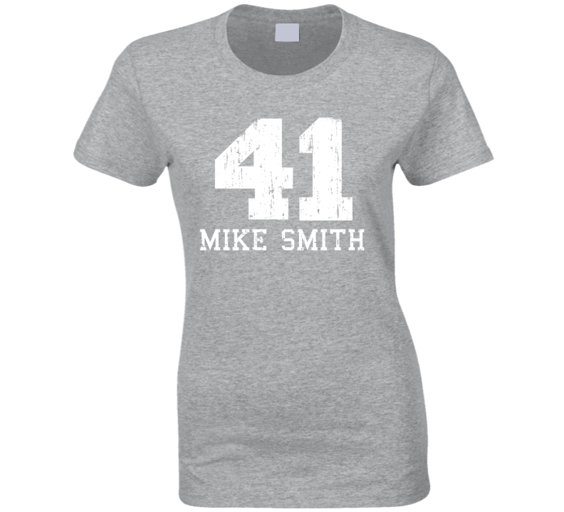 Mike Smith #41 Arizona Basketball Fan Worn Look Sports Ladies T Shirt