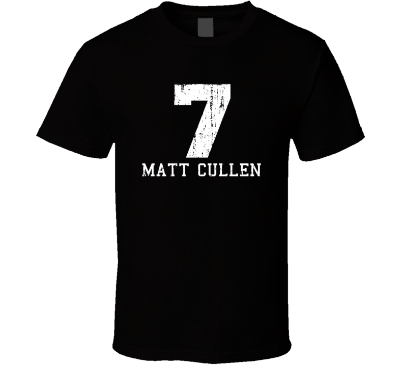 Matt Cullen No.7 Pittsburgh Hockey Fan Worn Look Sports T Shirt