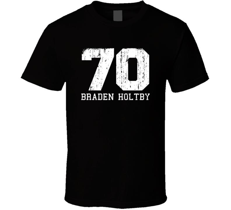 Braden Holtby No.70 Washington Hockey Fan Worn Look Sports T Shirt