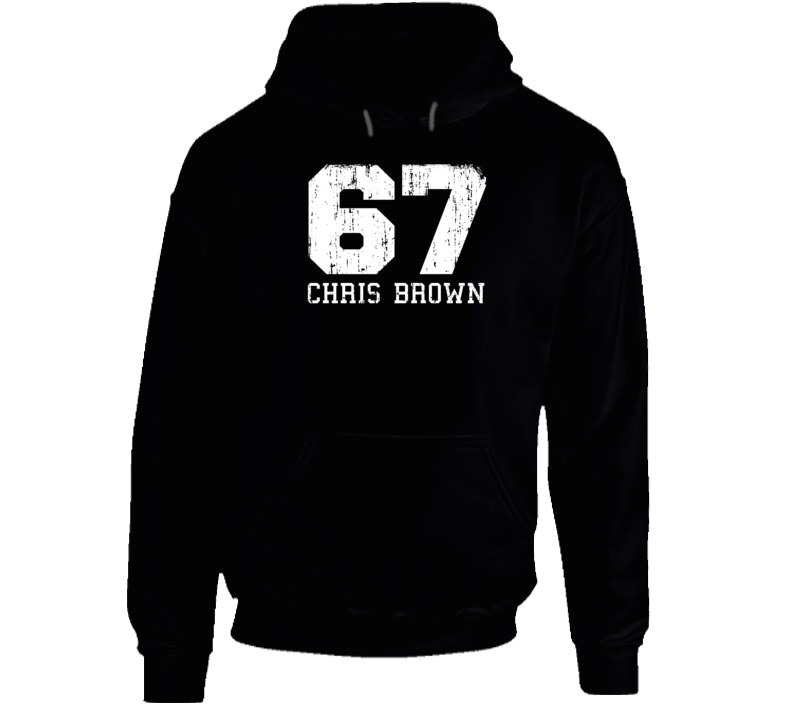 Chris Brown No.67 Washington Hockey Fan Worn Look Sports Hoodie