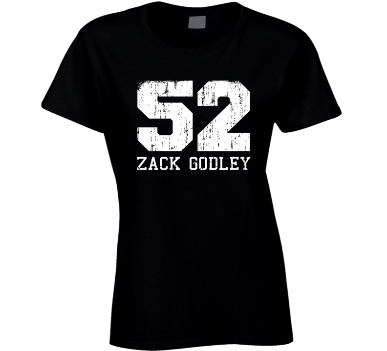 Zack Godley No.52 Arizona Baseball Fan Worn Look Sports Ladies T Shirt
