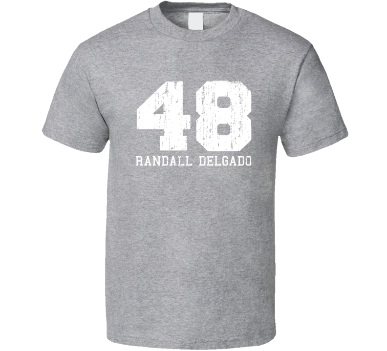 Randall Delgado No.48 Arizona Baseball Fan Worn Look Sports T Shirt