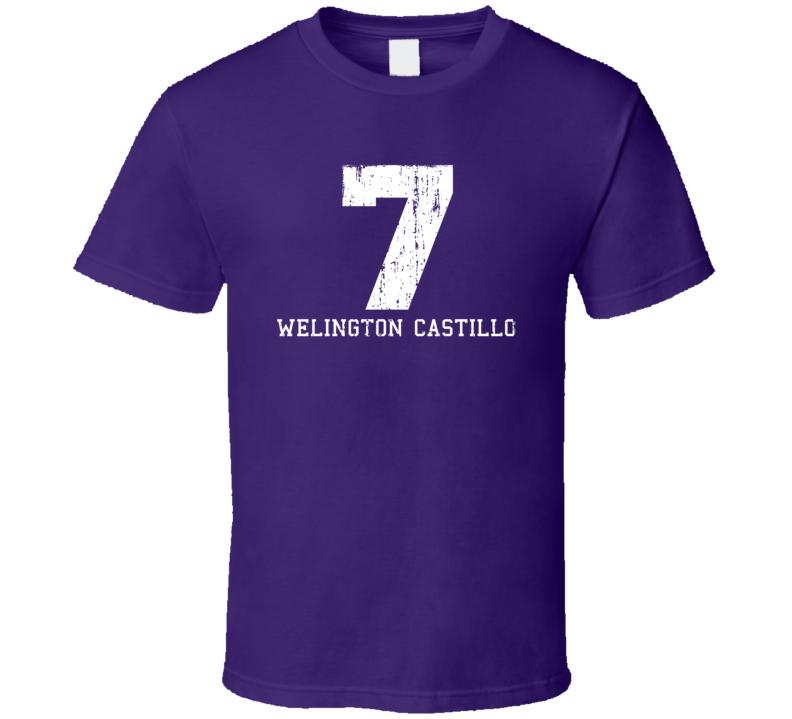 Welington Castillo No.7 Arizona Baseball Fan Worn Look Sports T Shirt