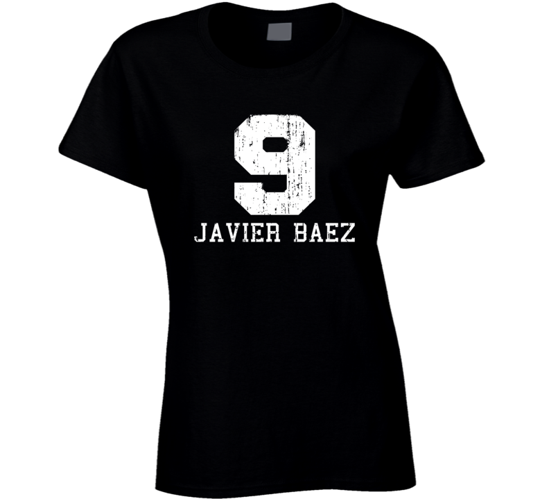 Javier Baez No.9 Chicago Baseball Fan Worn Look Sports Ladies T Shirt