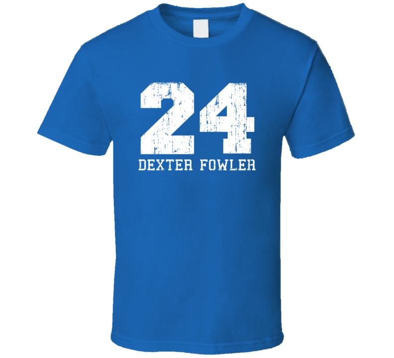 Dexter Fowler No.24 Chicago Baseball Fan Worn Look Sports T Shirt