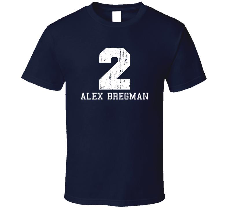 Alex Bregman No.2 Houston Baseball Fan Worn Look Sports T Shirt