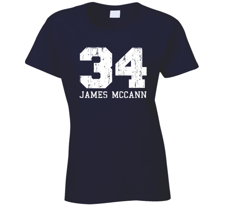 James McCann #34 Detroit Baseball Fan Worn Look Sports Ladies T Shirt
