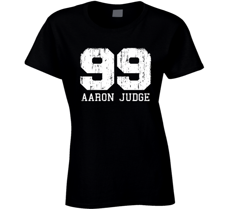 Aaron Judge #99 New York Baseball Fan Worn Look Sports Ladies T Shirt