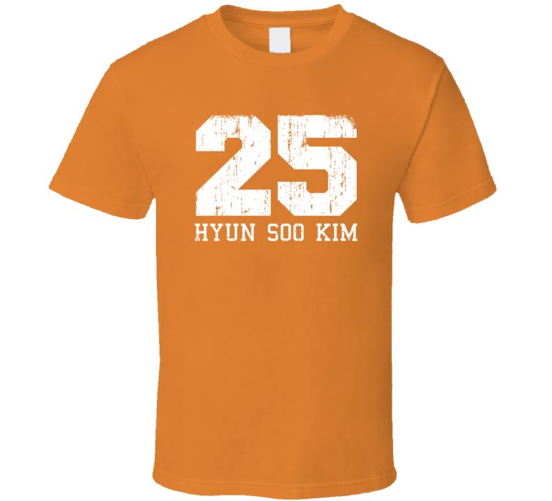 Hyun Soo Kim No.25 Baltimore Baseball Fan Worn Look Sports T Shirt