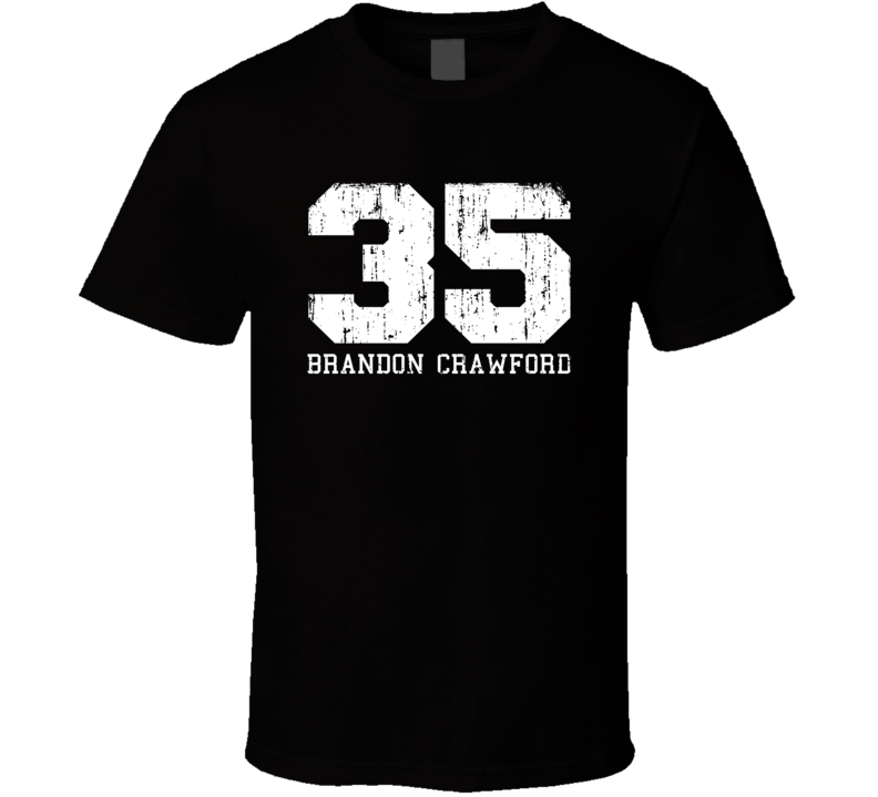 Brandon Crawford #35 San Francisco Baseball Worn Look Sports T Shirt