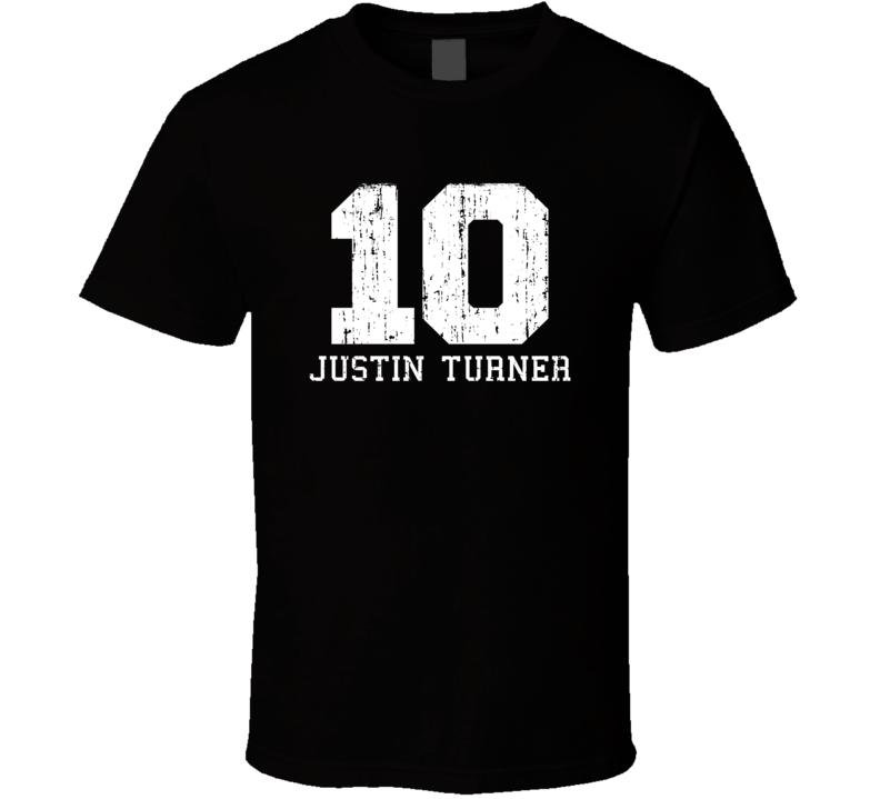 Justin Turner No.10 Los Angeles Baseball Fan Worn Look Sports T Shirt