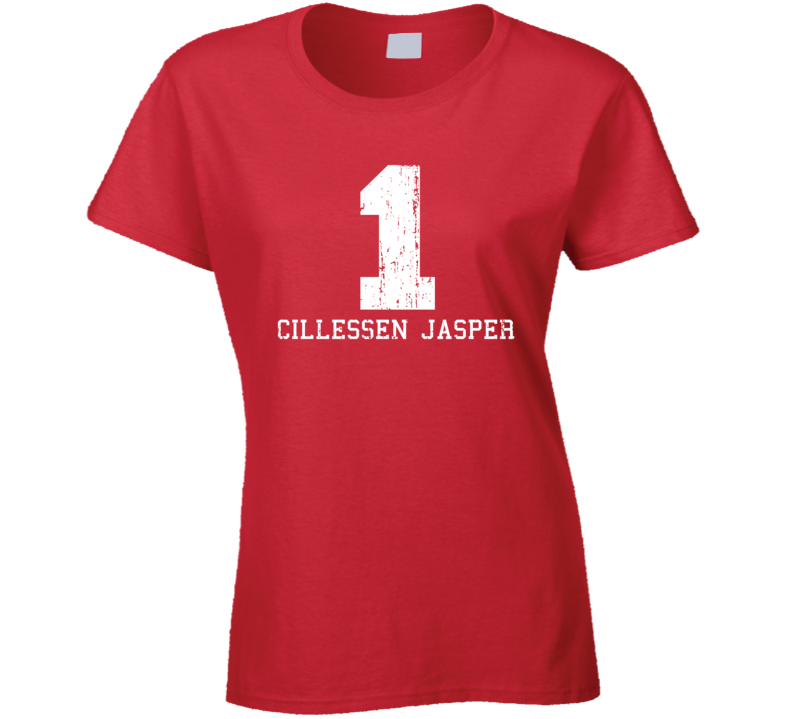 Cillessen Jasper #1 Barcelona Soccer Worn Look Sports Ladies T Shirt