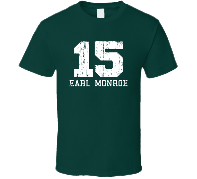 Earl Monroe #15 New York City Basketball Fan Worn Look Sports T Shirt