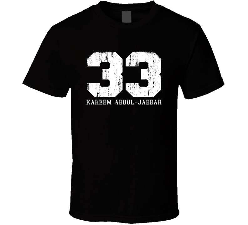 Kareem Abdul-Jabbar #33 Los Angelos Basketball Worn Look T Shirt