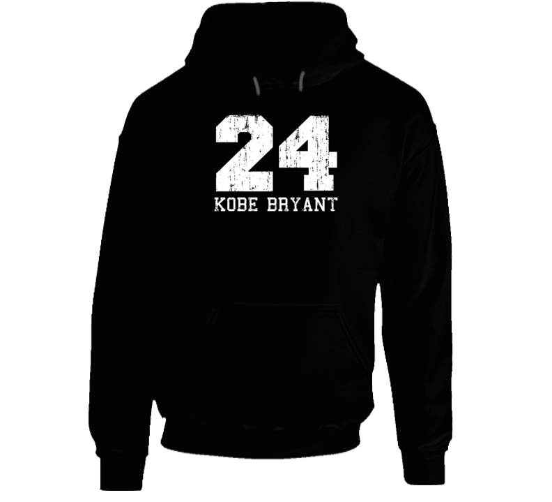Kobe Bryant #24 Los Angelos Basketball Fan Worn Look Sports Hoodie