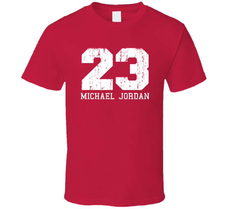 Michael Jordan #23 Chicago Basketball Fan Worn Look Sports T Shirt