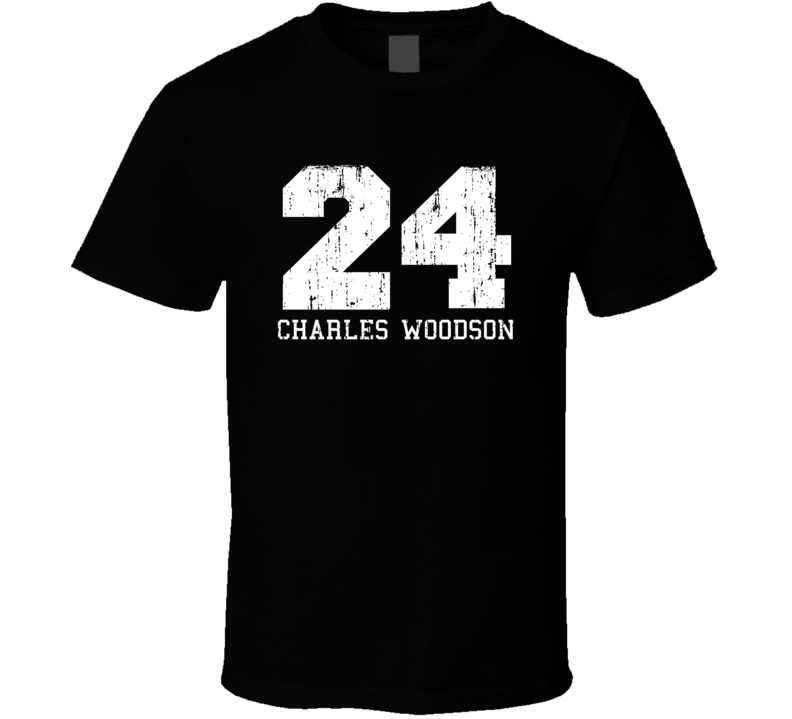 Charles Woodson #24 Oakland Football Fan Worn Look Sports T Shirt