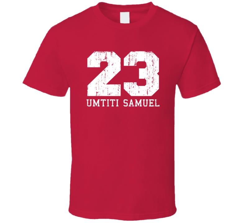 Umtiti Samuel #23 Barcelona Football Fan Worn Look Sports T Shirt